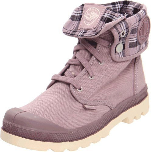 Palladium Baggy Canvas Boot (Toddler/Liitle Kid/BigKid),Elderberry/Ecru,10.5 M US Little Kid (Plaid Canvas Footwear)