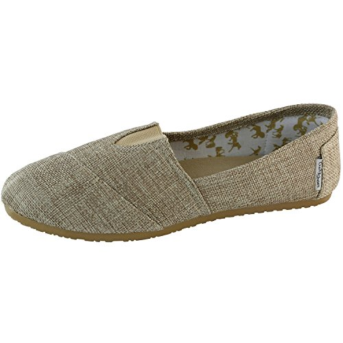 Dailyshoes Scarpe Da Donna Classiche Memory Foam Ammortizzato Morbido Quotidiano Slip-on Casual Sneaker Scarpe Basse In Lino Naturale