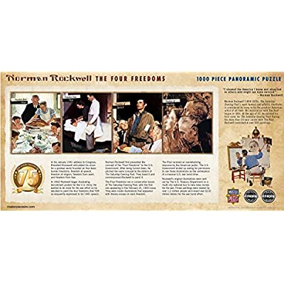 MasterPieces Saturday Evening Post Panoramic Jigsaw Puzzle, Norman Rockwell The Four Freedoms, Dr. Toy's 100 Best Winner, 1000 Pieces: Toys & Games