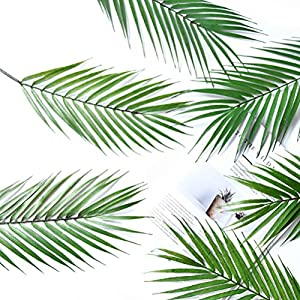 Artificial Palm Tree Faux Leaves Green Plants Greenery for Flowers Arrangement Wedding Decoration 2