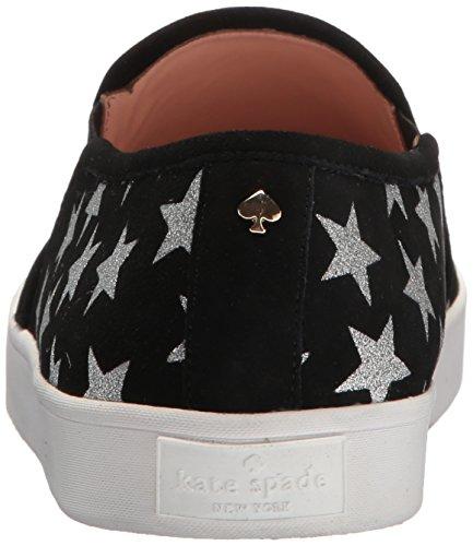 Kate Spade New York Womens Liberty Sneaker Nero / Argento