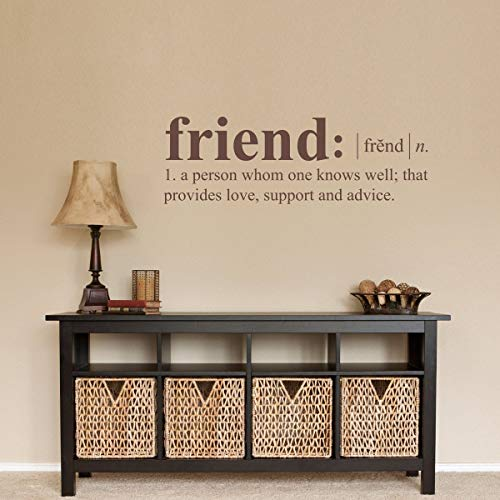 Dozili Friend Definition Wall Decal - Dictionary Definition Decal - Friend Wall Decal 36