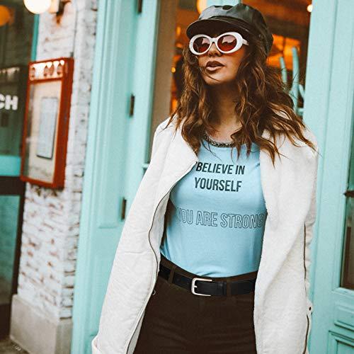WERFORU Damen Casual Ledergürtel für Jeans,Mode PU Ledergürtel mit Legierung Schnalle