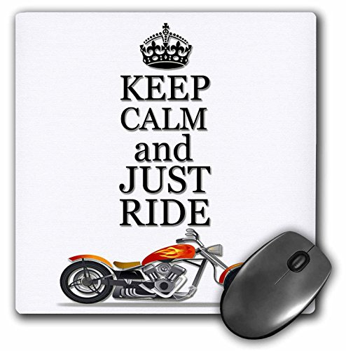Keep calm and just ride. Cool motorcycles saying. - Mouse Pad, 8 by 8 inches (mp_220704_1)