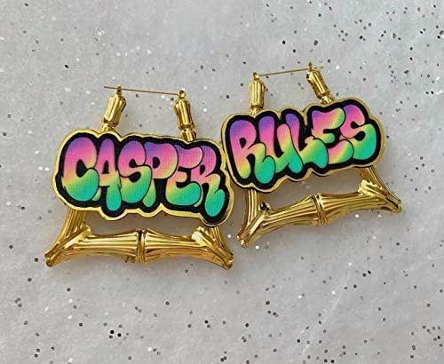 Personalized Earrings Custom Earring Ready to Paint or Stain Door Knocker Custom WordName Wood Cutouts- Unfinished Earring