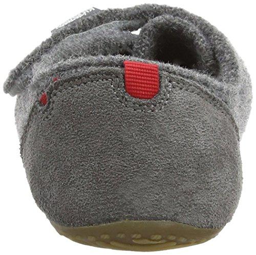 Living Kitzbühel Slipper Velcro - Zapatilla Baja Niños Gris - Grey (Grau 610)