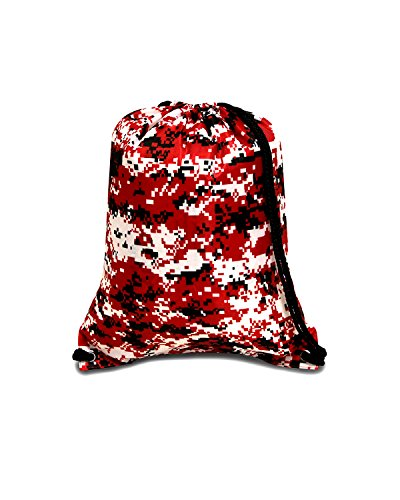 Boston Drawstring Backpack - RED - OS (Elegant Boston Bag)