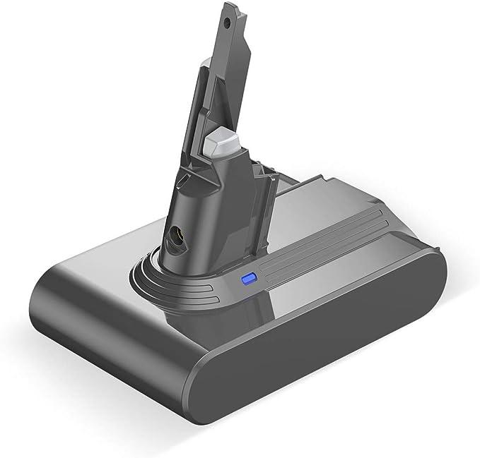Powerextra Batteria di ricambio per V8 21,6 V agli ioni di litio migliorato per Animali Motorhead Absolute V8 Animal Absolute Motorhead Fluffy SV10 con 2 filtri lavabili