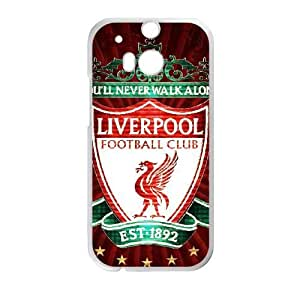HTC One M8 Phone Cases White Liverpool Logo DEM734479