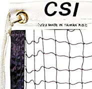 CSI Cannon Sports 21-ft Institutional Quality Knotted Badminton Net with Nylon Rope Cable