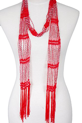 Fishnet Beaded summer infinity necklace product image