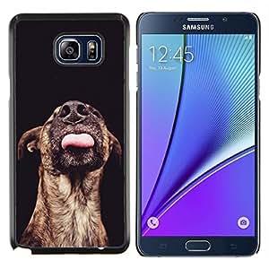 LECELL--Funda protectora / Cubierta / Piel For Samsung Galaxy Note 5 5th N9200 -- Ganado Negro Mutt --