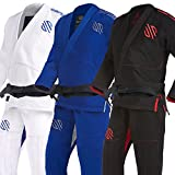Sanabul Essentials Version 2 Ultra Light BJJ Jiu Jitsu Gi with Preshrunk Fabric (Black, A0)