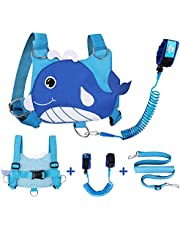Lehoo Castle Leash for Kid, Toddler Harness with Leash, 4-in-1 Toddler Leash for Boys, Kid Leash Harness with Kids Safety Wrist Leash (Whale)