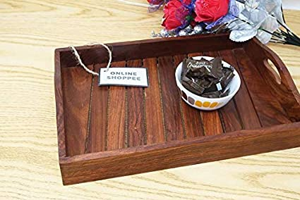 77c2ea94b41f Buy Onlineshoppee Sheesham Wood Handcrafted Tray Online at Low ...