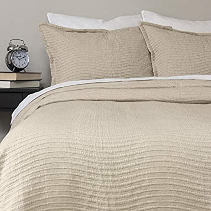 Image of Amity Home Wave Natural Coverlet Set (King)