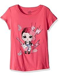 L.O.L. Surprise! Big Girls' Glee Club Rocker Short Sleeve T-Shirt, Hot Pink, M-8/10