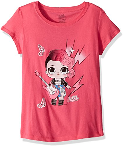 L.O.L. Surprise! Girls' Big Glee Club Rocker Short Sleeve T-Shirt, hot Pink, M-8/10 from L.O.L. Surprise!