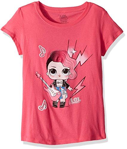 Price comparison product image L.O.L. Surprise! Girls' Little Glee Club Rocker Short Sleeve T-Shirt, hot Pink, L-6X