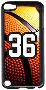 Basketball Sports Fan Player Number 36 Black Plastic Decorative iPod iTouch 5th Generation Case