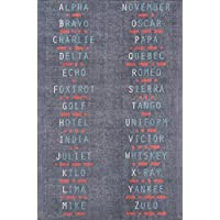 Novogratz District Collection Military Area Rug, 33 x 5, Charcoal