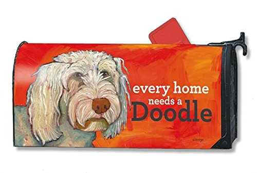 Mailwraps Doodle Dog Magnetic Mailbox Cover