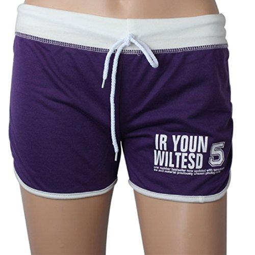 Violet Cotton De Amlaiworld Plage Femmes Chauds Course Mini Occasionnelle Sport Pantalons Sexy Shorts Slim xIr0OwqcE0
