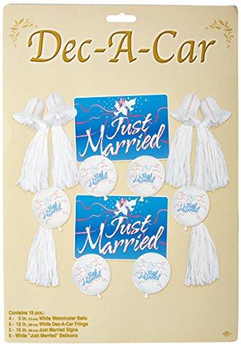 Wedding Car Decorating Kit (Dec-A-Car Pak Party Accessory (1 count) (18/Pkg))