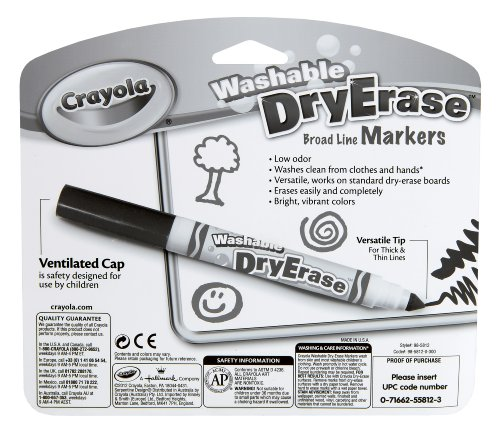 Crayola 12 Ct Washable Dry Erase Markers(Discontinued by manufacturer) by Crayola (Image #2)