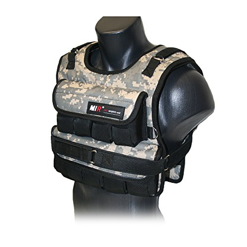 MIR - CAMO ADJUSTABLE WEIGHTED VEST (Short, 30) by MiR