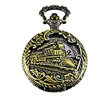 """North American Railroad Approved, Railway Regulation Standard, Train Pocket Watch""""150th Aniversary USA"""" Japanse Movement""""Steam Engine #""""3"""" (of 5 Watch Collection)"""