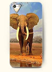 OOFIT Phone Case design with A Tall Elephant for Apple iPhone 5 5s 5g