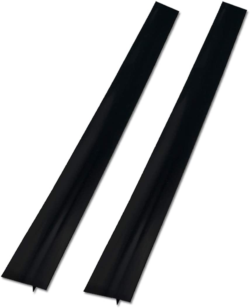 2 Pack Silicone Stove Counter Gap Cover, 25 inch Long Kitchen Counter Gap Filler, Long Gap Filler Seals Spills Between Counter, Stovetop, Oven, Washing Machine and Kitchen Appliances (Black-1)