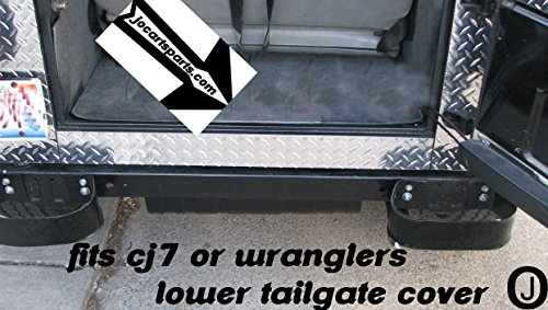Jeep Cj7-tj or Yj Wrangler Diamond Plate Lower Rear Tailgate (Jeep Wrangler Diamond Plate)