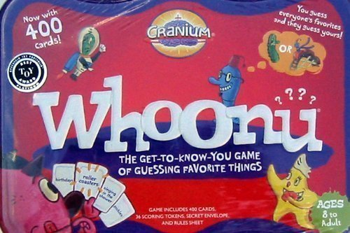 Cranium Whoonu Collectible Tin 400 Card Game (Pick Quick Game Tin)