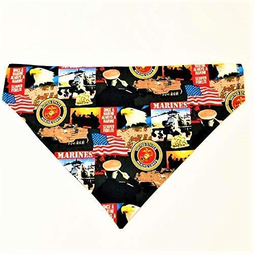 Armed Forces Military Marine Dog Bandana No-Tie