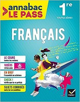 Français 1re toutes séries: cours, cartes mentales, sujets corrigés... et vidéos Annabac Le Pass: Amazon.es: Sylvie Dauvin, Jacques Dauvin, ...