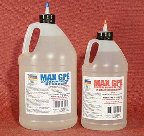 MAX GPE A/B -General Purpose Epoxy Resin System - 1.5 Gallon Kit - RV Panel Glue, Injectable Delamination Adhesive, Wood Rot Sealing, Stabilizing Resin, Fiberglass Impregnating Resin, Layup Epoxy
