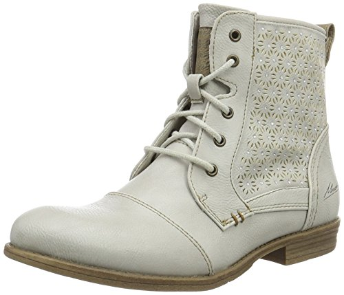 Mustang Women's 1157-543-203 Combat Boots, Ivory (203 Ice), 5 UK Off-white (203 Ice)