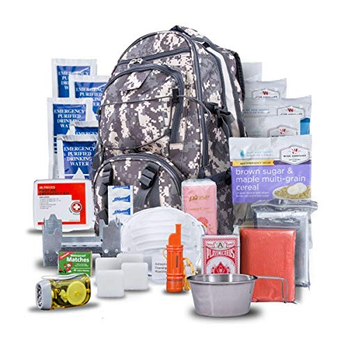 Wise Company Survival Kit, Food and Emergency Supply Backpack, Camo 4 Piece Quick Change