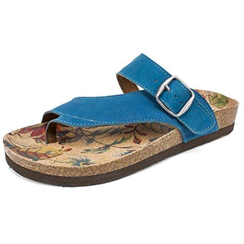 WHITE MOUNTAIN Women's Hasty Sandal, French Blue, 10 M US by WHITE MOUNTAIN