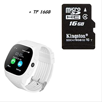 QSJWLKJ Bluetooth Smart Watch con cámara Compatible con Tarjeta ...