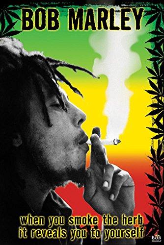 Bob Marley - Smoke the Herb Man! Poster 22 x 34in ()