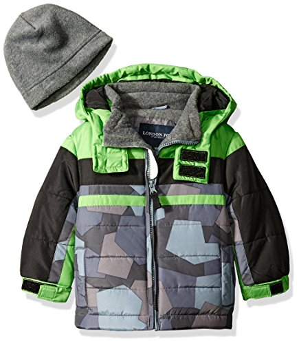 london-fog-baby-classic-heavyweight-color-block-bubble-jacket-with-hat-green-12-months