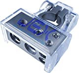 Jex Electronics Negative Battery Terminal Power Distribution Connector 2ga, 4ga & 2X 8ga output for Car/boat/RV