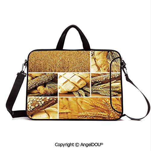 - AngelDOU Customized Neoprene Printed Laptop Bag Notebook Handbag Collage Story Wheat Various Types of Bread Baking Culture Different Crusts Decor Compatible with mac air mi pro/Lenovo/asus/acer E