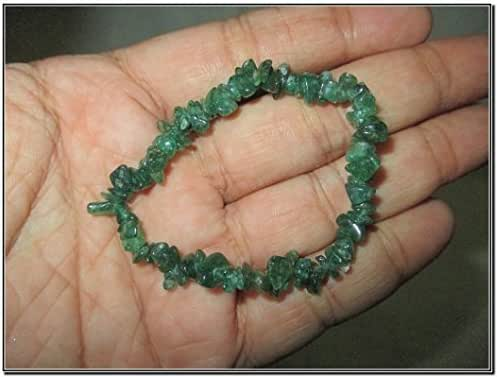 New Green Mica Jade Chips Stretch Bracelet Single Line Chakra Natural Genuine Feel Better Authentic Fashion Styel Unique