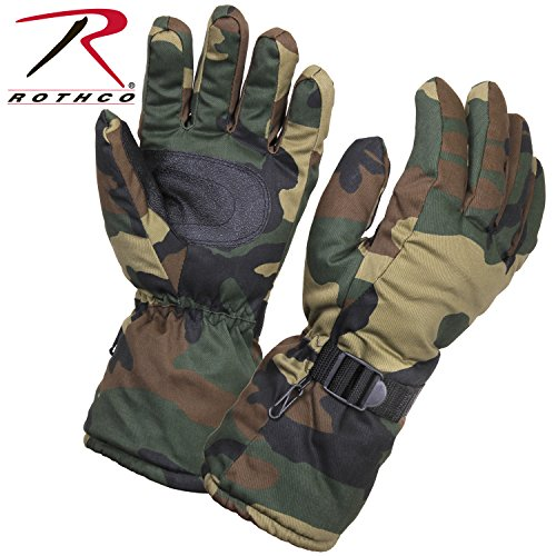 Rothco Extra-Long Insulated Gloves, Woodland Camo, X-Large