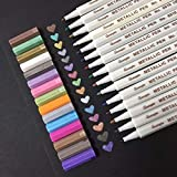 papasgix 15pcs Paint Marker Pens Neelde Pens Extra Fine Point Permanent Marker Pen DIY Art Markers Graffiti Paint