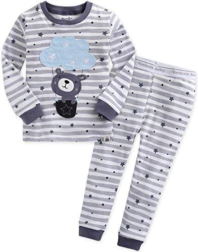 Vaenait Baby Kinder Jungen Nachtwaesche Schlafanzug-Top Bottom 2 Stueck Set Feeling Bear S